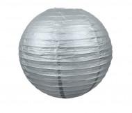 Lanterna giapponese color argento 35 cm