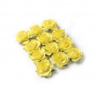12 Rose gialle da appuntare