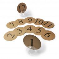 12 segnaposto rotondi in carta kraft di 12.7 cm