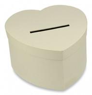 Urna di cartone cuore kraft chiaro