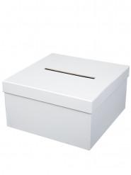 Urna in cartone quadrata di colore bianco