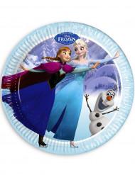 8 piatti Frozen™ in blu 23 cm