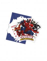 6 inviti in cartoncino Spiderman™ con buste