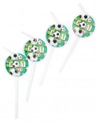 6 cannucce decorate con medaglioni di calcio