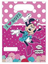 6 sacchetti regalo in plastica firmati Minnie™