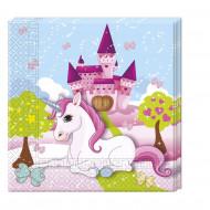20 tovaglioli di carta con unicorni
