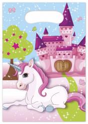 6 Sacchetti regalo Unicorno