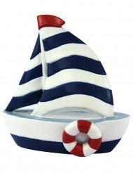 Miniatura in resina di una barca a vela