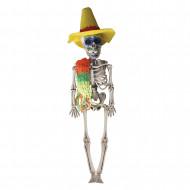 Scheletro di plastica stile messicano Halloween