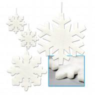 4 decorazioni da appendere a forma di fiocchi di neve