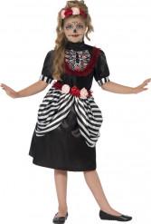 Costume bambina da scheletro a righe