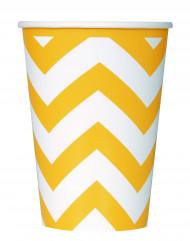 6 bicchieri in cartone zig zag giallo 340 ml