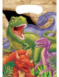 8 sacchetti per regalo compleanno con dinosauri