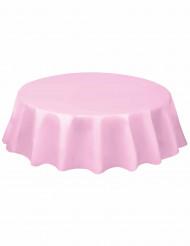 Tovaglia rotonda plastificata da 213 cm rosa chiaro