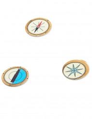 Coriandoli da tavola in legno dei pirati