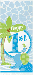 20 sacchetti regalo in cellophane Giungla 1 anno per maschietti