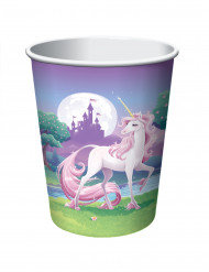 8 bicchieri usa e getta Unicorno
