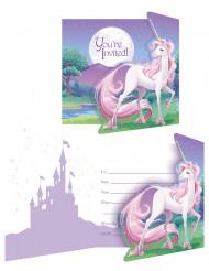 Confezione 8 Biglietti d'invito Magico Unicorno