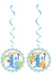 3 decorazioni da appendere Jungla 1 anno bambino