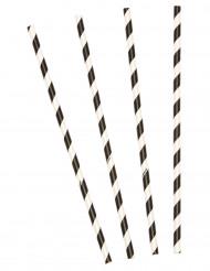 10 cannucce a righe bianche e nere