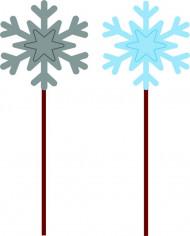 Set di 12 picks per aperitivi a forma di fiocco di neve