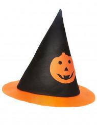 Cappello da strega per bambino con zucca di Halloween