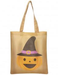 Sacchetto porta caramelle con zucca di Halloween