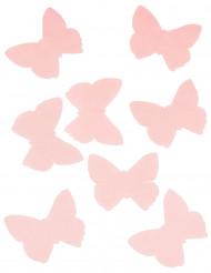 50 farfalle in organza rossa
