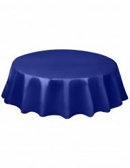 Tovaglia rotonda plastificata di colore blu da 213 cm