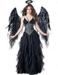 Costume Angelo Nero donna Halloween <br />- Premium
