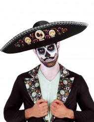 Sombrero nero Dia de los muertos