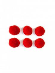 50 Mini pompon rossi