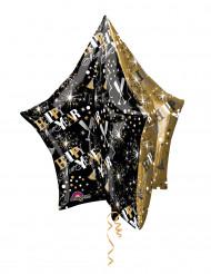 Palloncino in alluminio oro e nero a stella