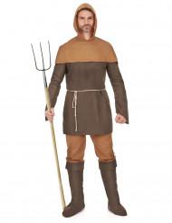 Travestimento da paesano medievale uomo