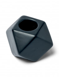 Candeliere ottagonale nero opaco 5 cm