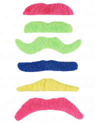 6 baffi adesivi