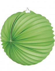 Lanterna a forma di sfera verde 23 cm