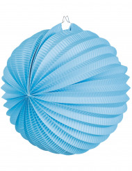 Lanterna  sferica color turchese 23 cm