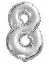 Palloncino argentato a forma di otto