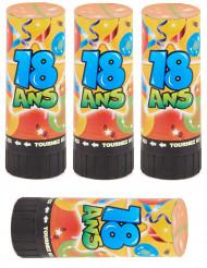 4 Tubi sparacoriandoli numero 18