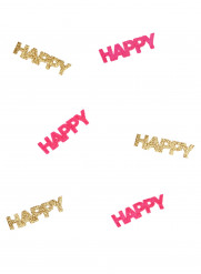Coriandoli Happy fucsia e dorati