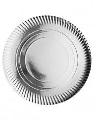 Set 4 sottopiatti argentati in cartone 36 cm