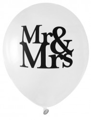 Palloncini MR & MRS bianchi per matrimonio