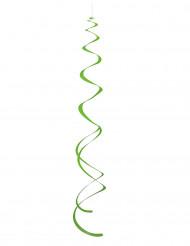 8 decorazioni da appendere a forma di spirale di colore verde