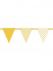 Festone con bandierine a fantasie in giallo di 3,23 m