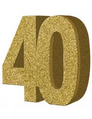 Decorazione per tavolo numero 40 color oro