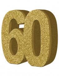 Decorazione da tavola dorata 60 anni