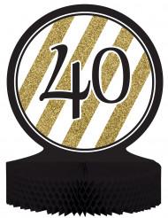 Centrotavola 40 anni nero e oro