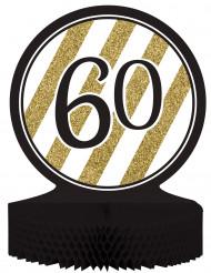 Centrotavola 60 anni nero e oro
