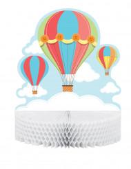 Centrotavola a forma di piccola mongolfiera 30 cm